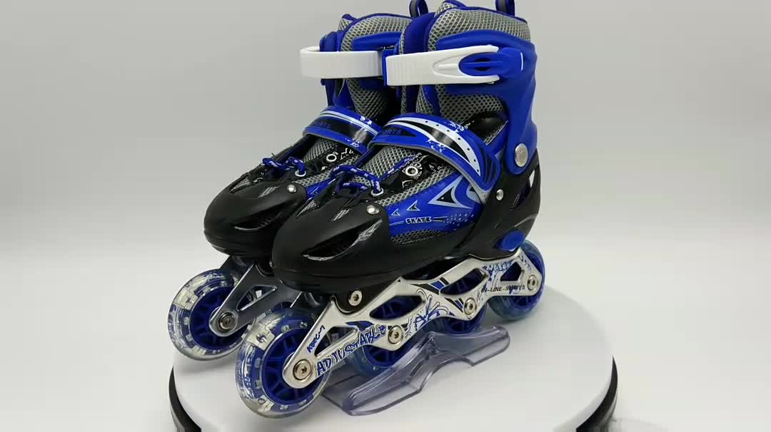 2017 roller skates wholesale boys used roller skates professional flashing roller four wheel