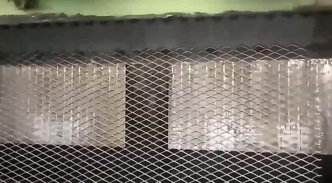 Modern expanded metal stair railings and balcony screen