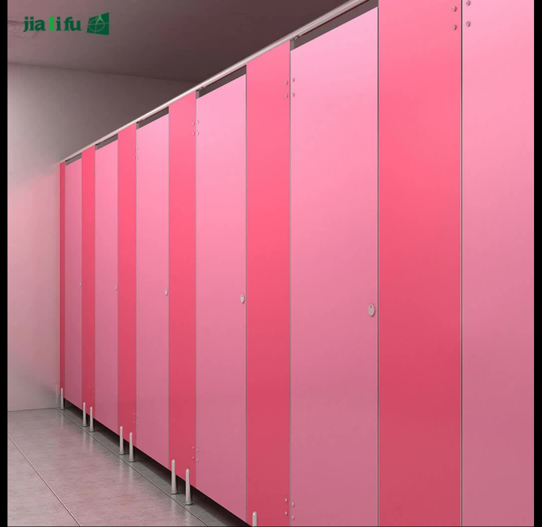 JIALIFU 10 years warranty compact pvc toilet cubicle partition