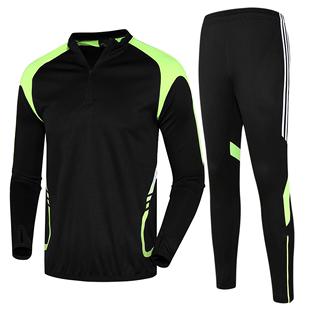 运动套装男跑步秋冬加绒套运动服