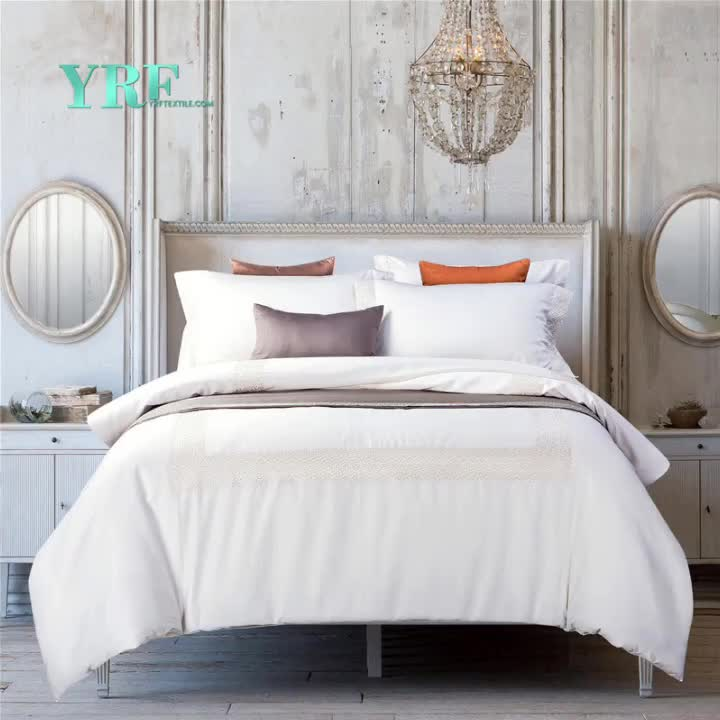 YRF Bulk Wholesale Cheap White 100% Cotton Hotel Home Hospital Bed Sheets