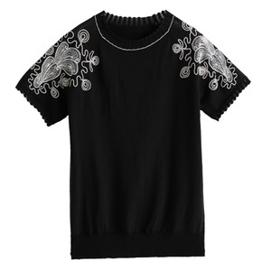 冰丝针织衫短袖夏2021新款宽松t恤