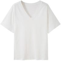 2020新款夏装纯色v领ins短袖t恤使用评测
