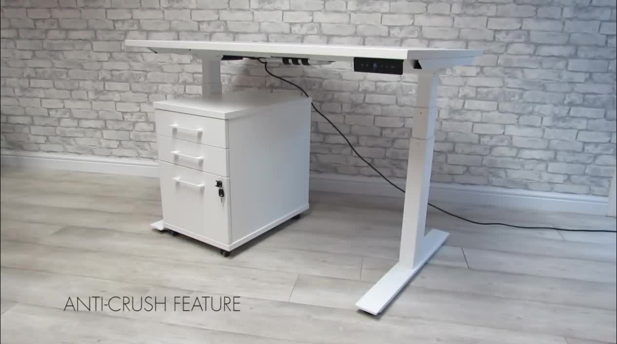 Electric computer height adjustable standing desk converter table