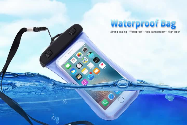Haissky 5 5inch Universal Pvc Ipx8 Slim Waterproof Cell Phone Bag For Iphone 7 Mobile Case