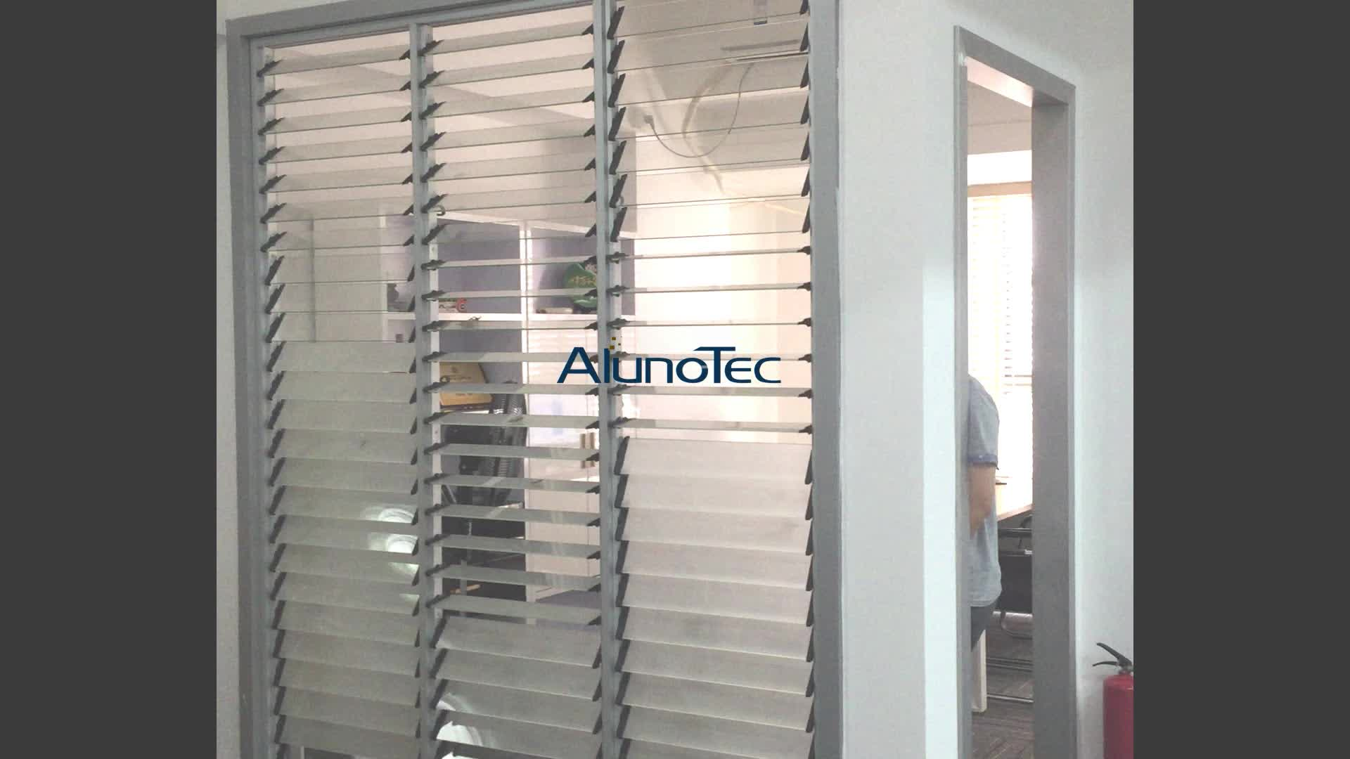 Customized Wooden Louvers Timber Louvre Windows With Security Mesh