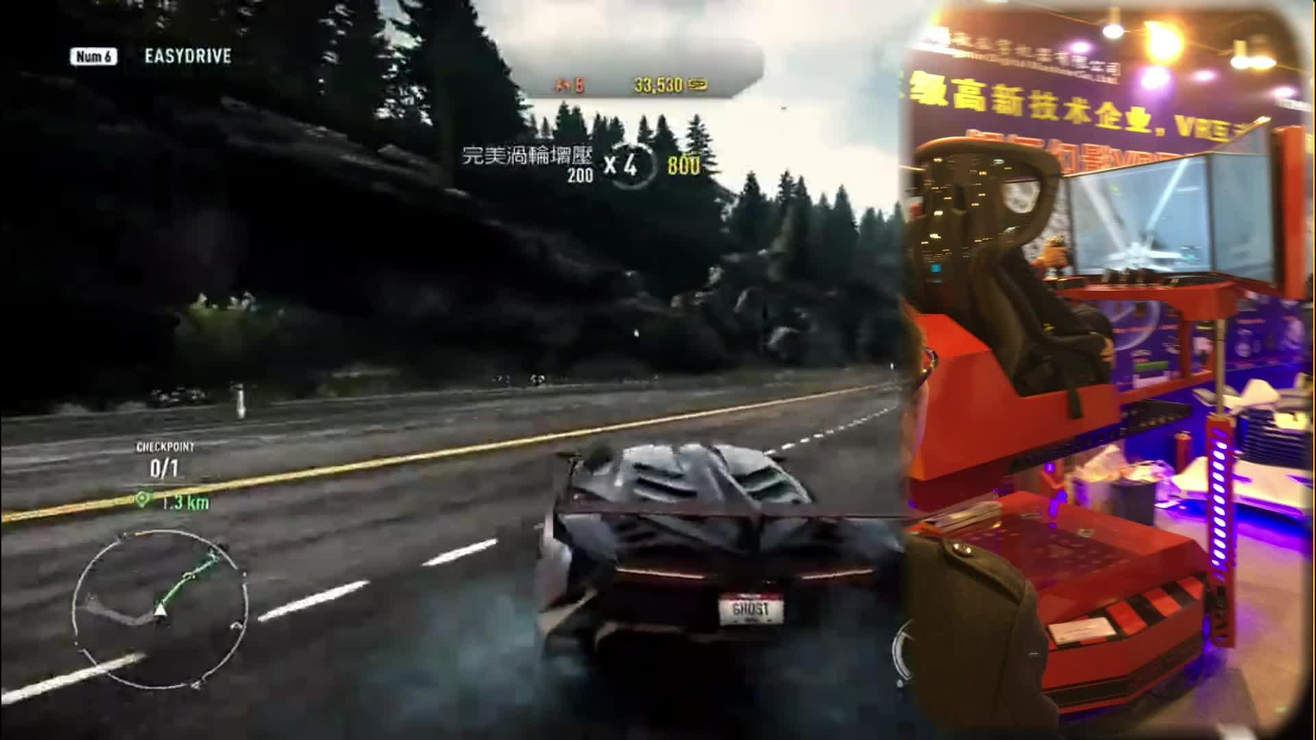 Eğlence ekipmanları çift oyuncu 360 hareket koltukları araba Yarışı simülatörlü oyun makinesi