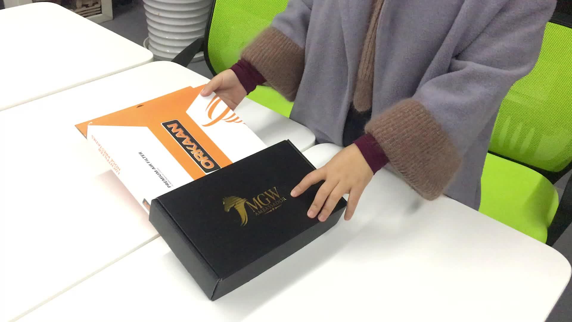 Goldfolienprägung gedruckt matt schwarz karton schmuckschatulle