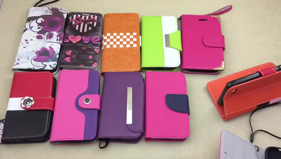 Wallet phone case back cover accessory for alcatel onetouch pixi 4 5010d pop s9