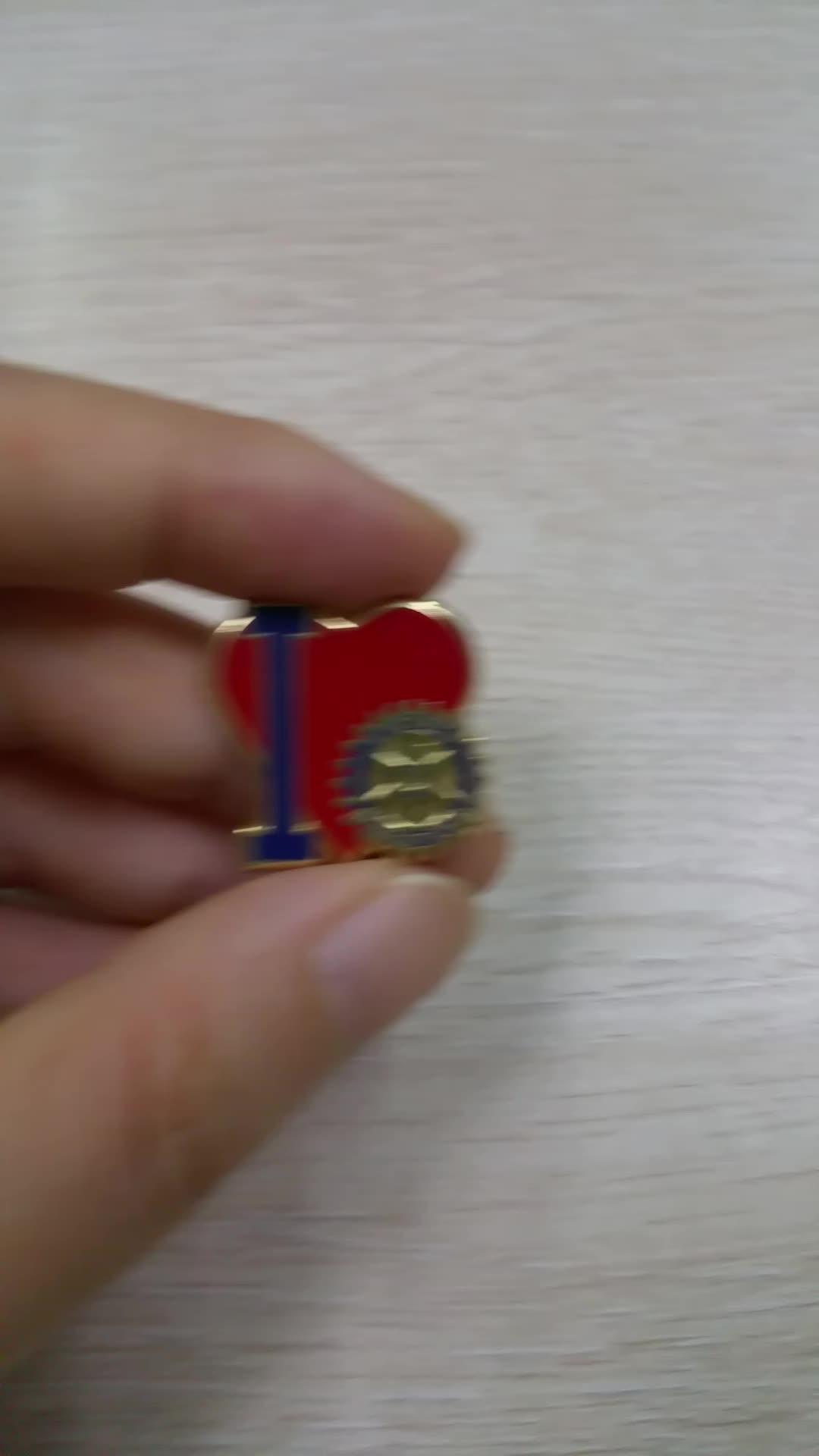 heart shaped pin badges, jewelry clasp locking pin back, lapel pin soft enamel