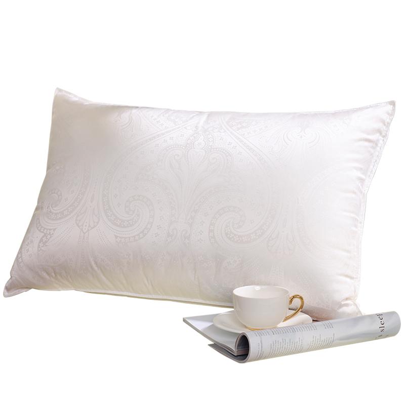 富安娜蚕丝真丝枕头单人护颈椎夏睡觉成人家用枕芯丝棉酒店抗菌枕