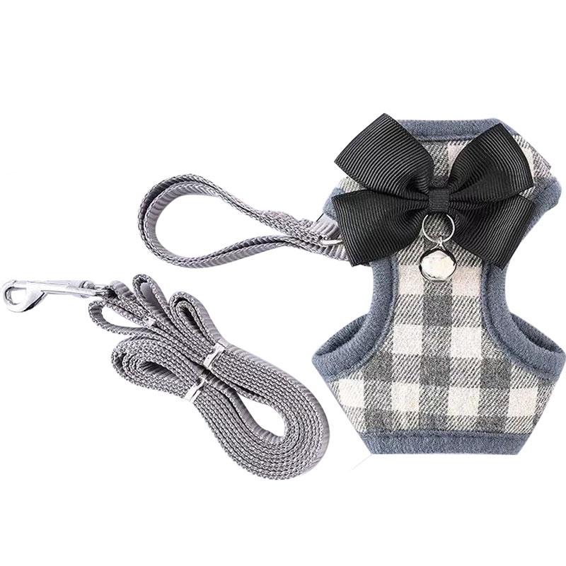 幼犬牵引绳泰迪狗链茶杯犬项圈小型犬小体狗绳通用铃铛超小号伸缩
