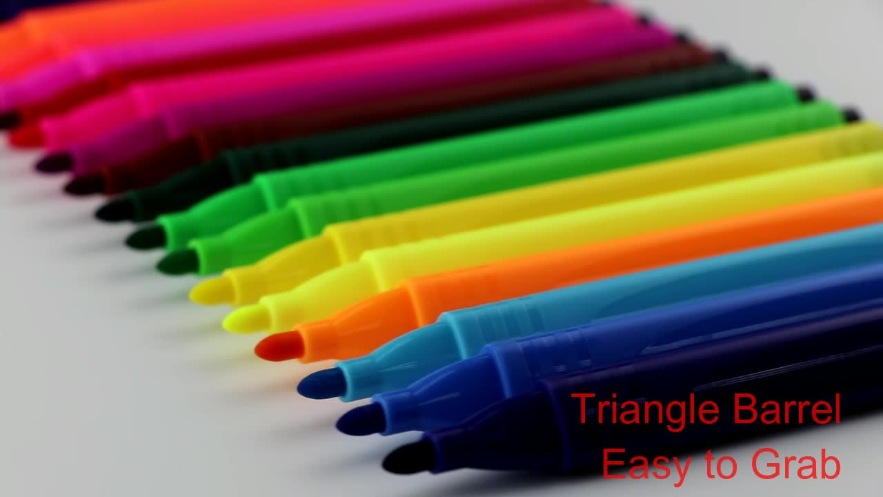 Best Marker Pens for Drawing and Coloring with Triangle Barrel