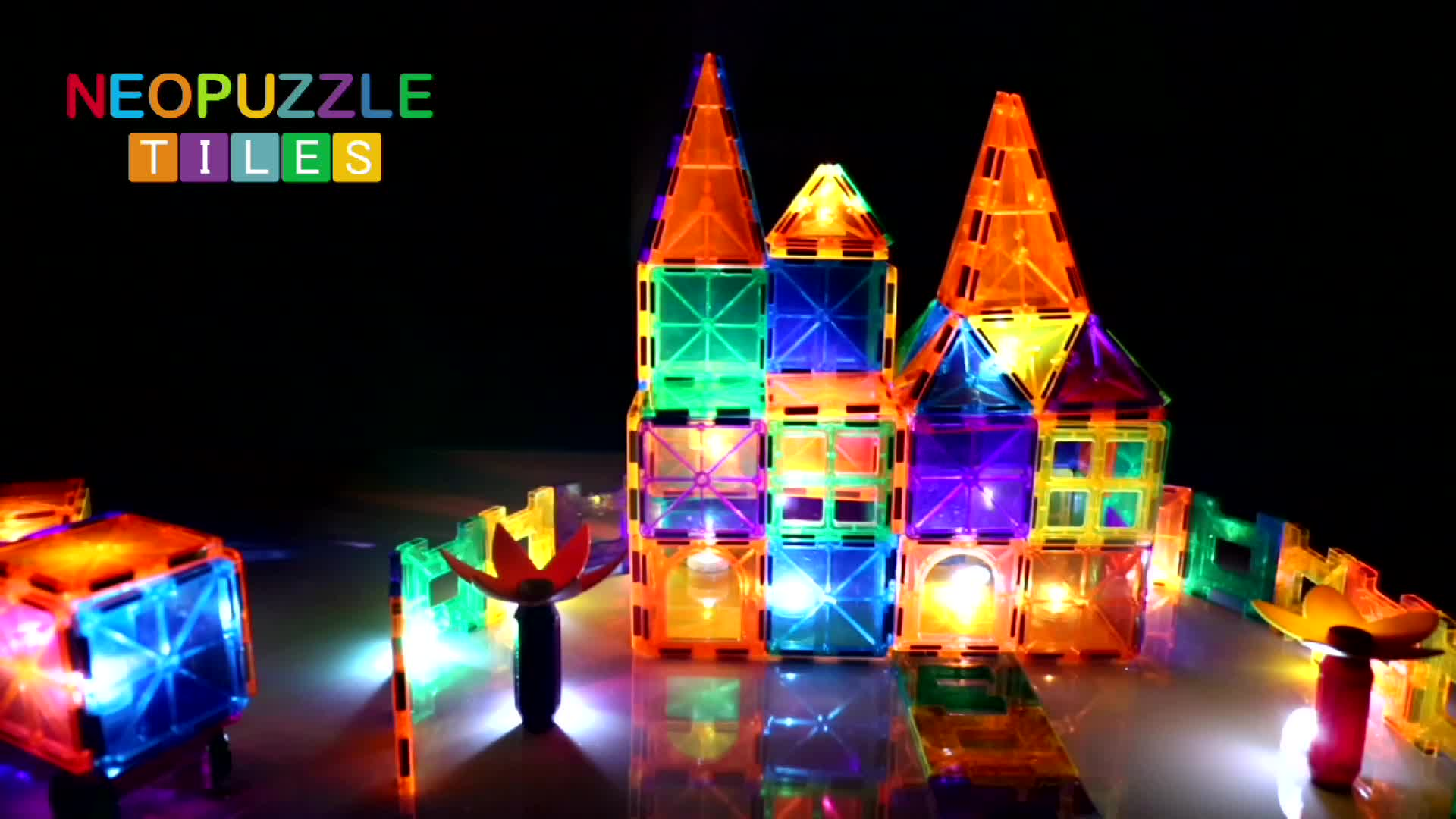 Amazon building block supplier Educational Toy creative construction toy wholesale magnetic tiles building set magna tiles
