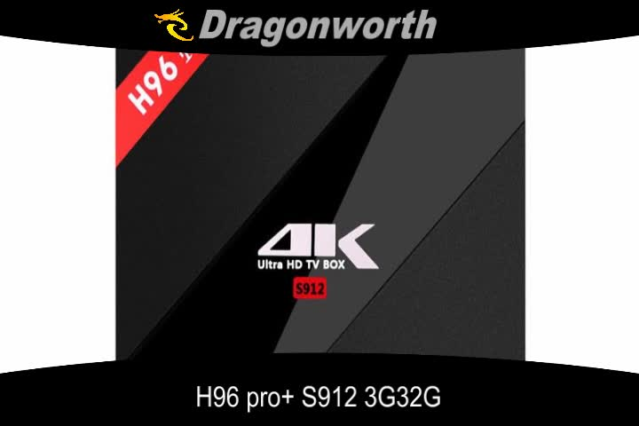 H96 Pro+ of New product Android TV BOX S912 3G 32G Set top box with low price KD Player 17.0 TV BOX