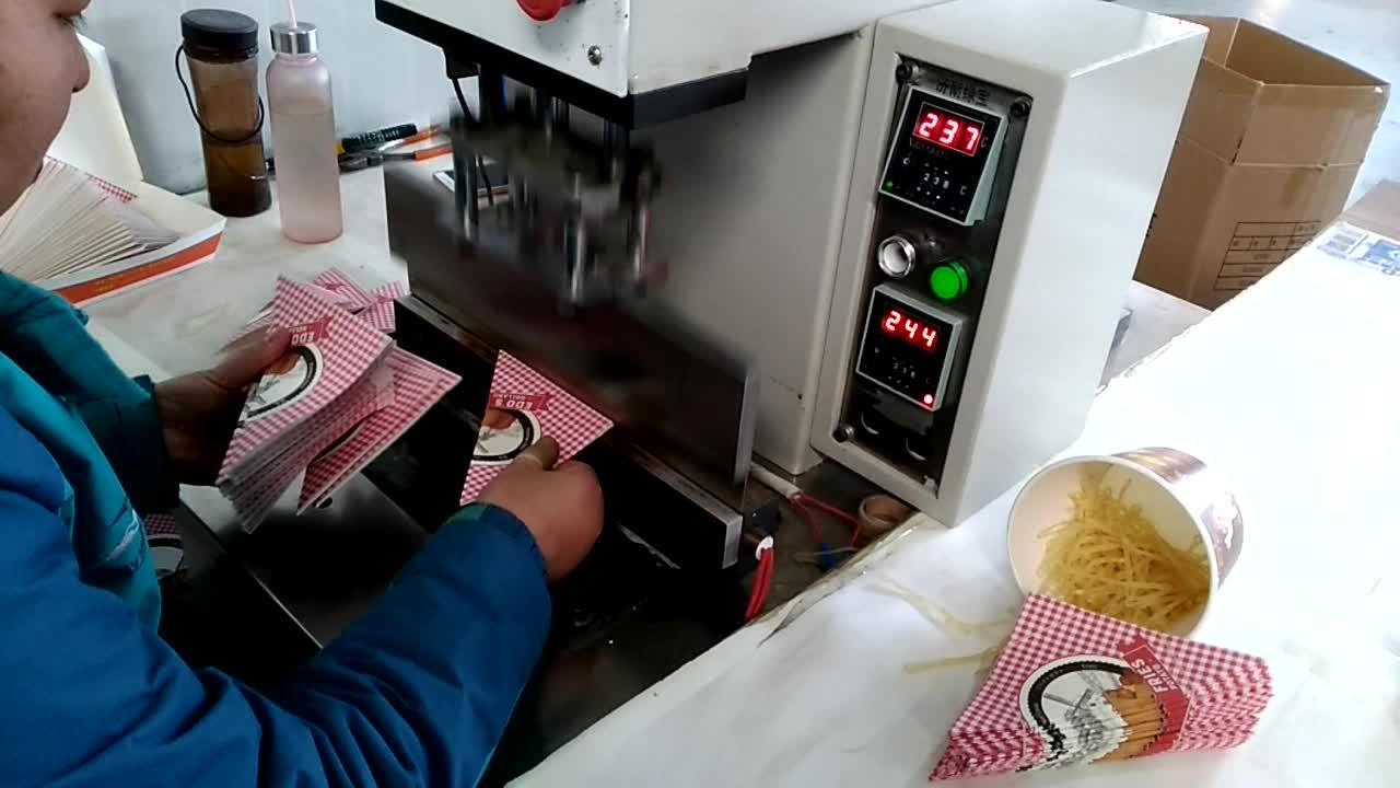 香港卵ワッフル紙コーンパッケージ