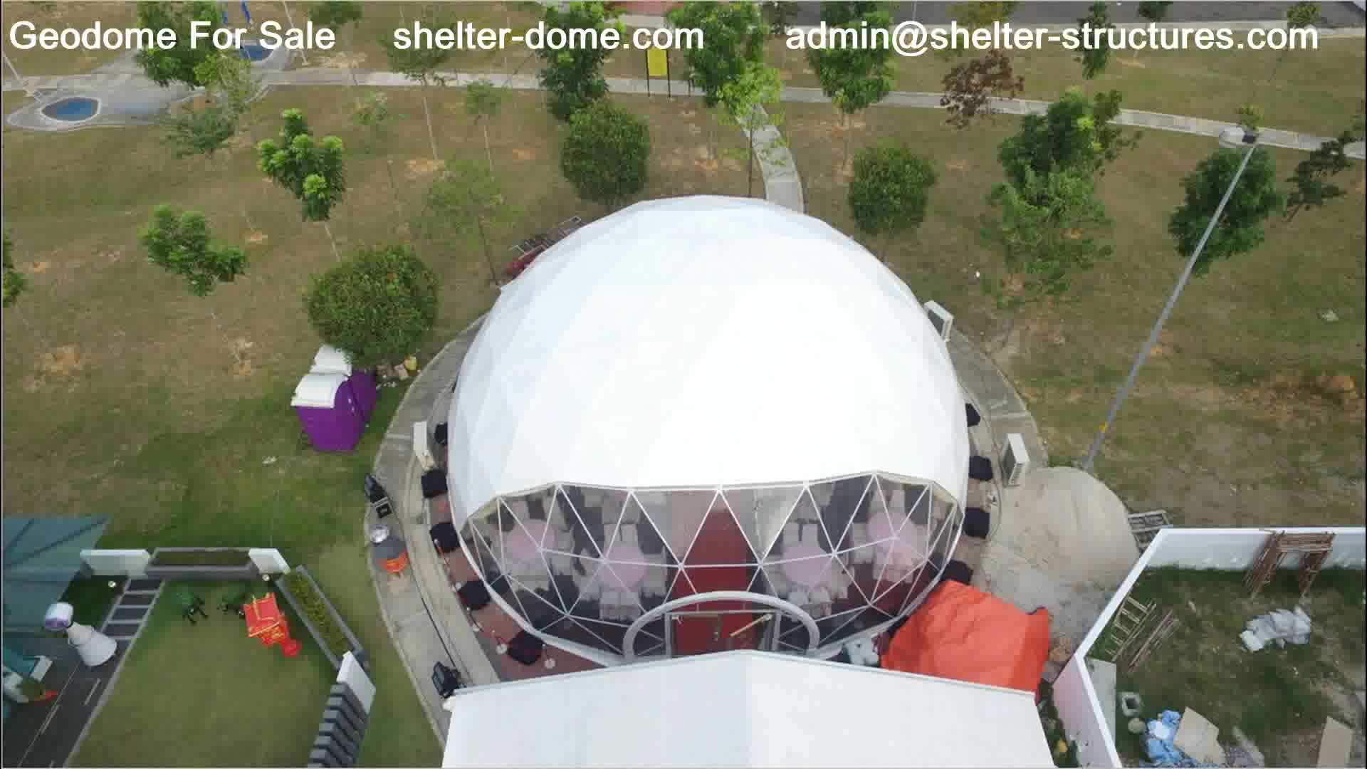 Latest design geodesic dome tent large
