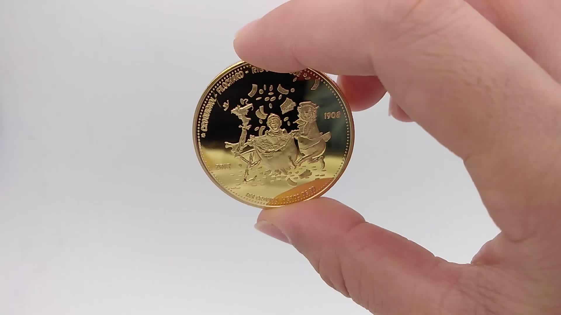3D Metal gold silver Souvenir Marine Corps Coin