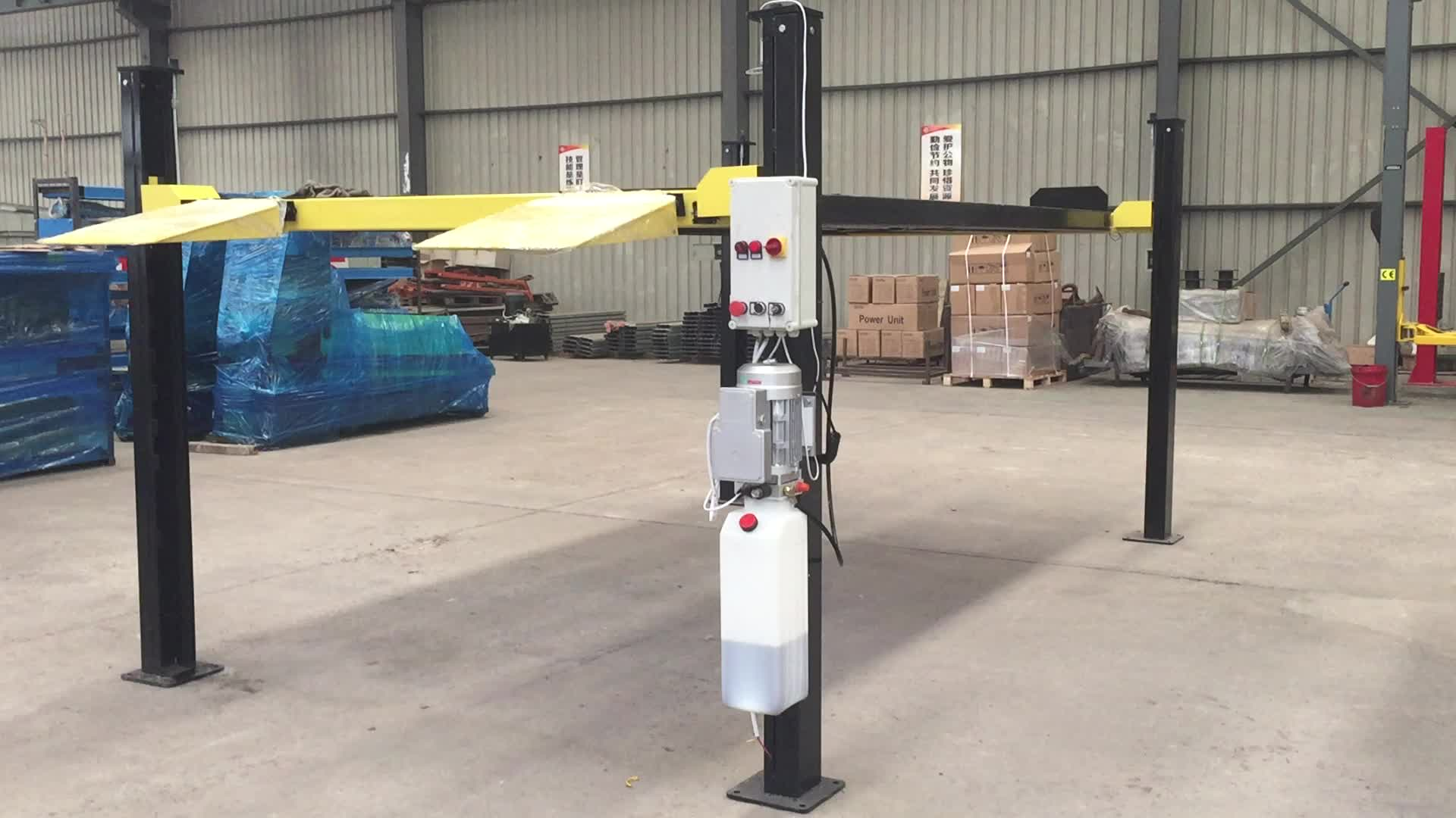 mobile underground mechanical garage used 4 post car parking lift