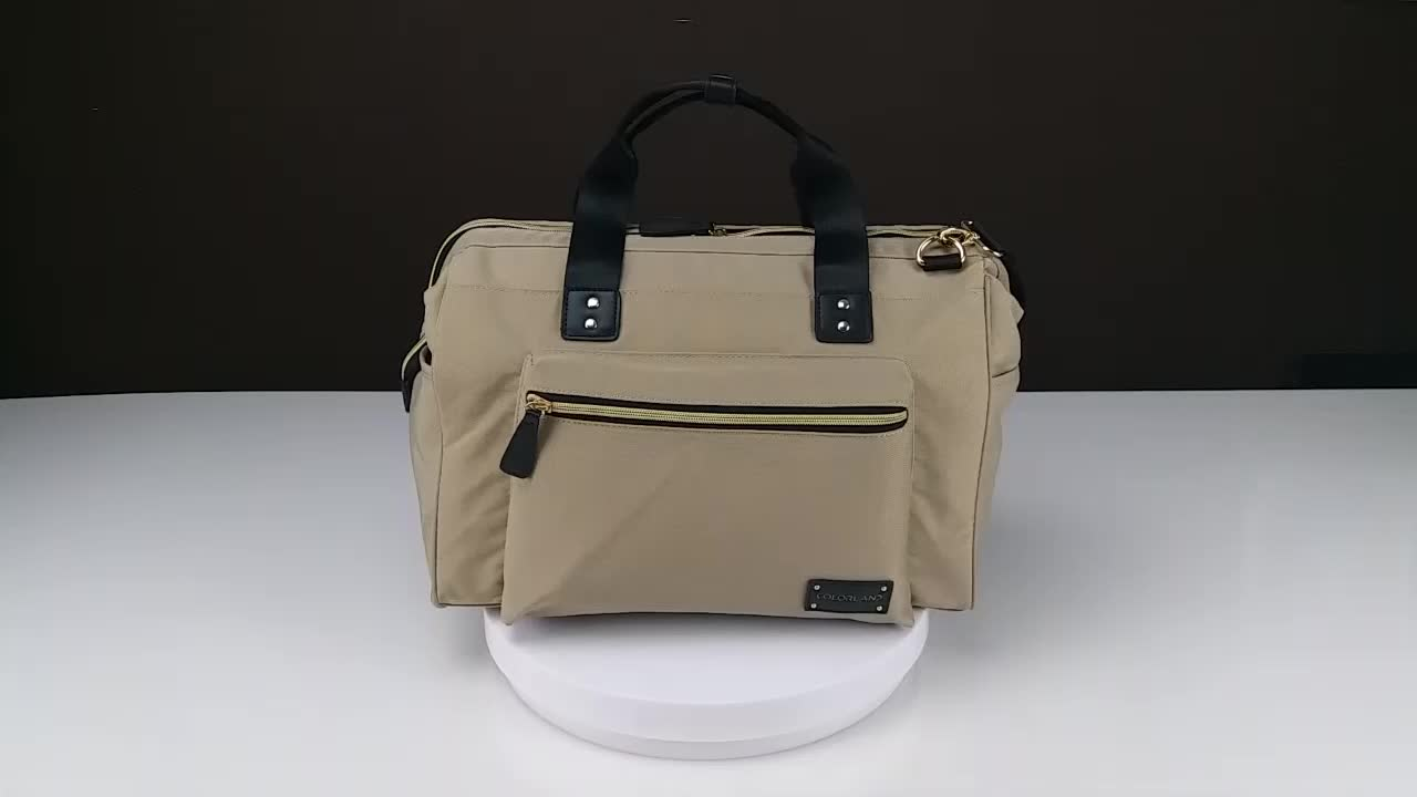 Large Capacity Mummy Daddy Tote Bag Wide Opening Baby Diaper Bag