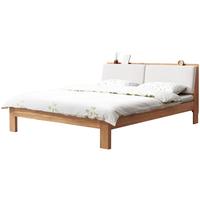 源氏木语纯北欧橡木简约现代实木床质量怎么样