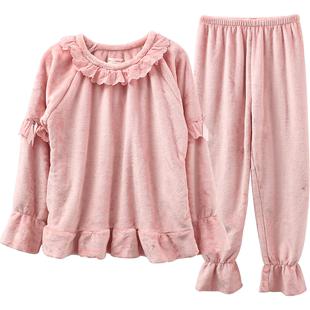 秋冬款加厚加绒可爱珊瑚绒睡衣