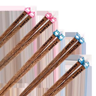 实木儿童家用卡通幼儿园宝宝筷玉米