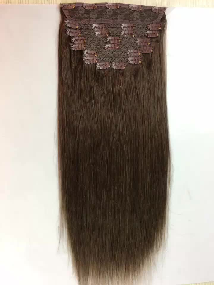 16 To 26 175g 220g Thick End Black Hair Clip In Indian Human Hair