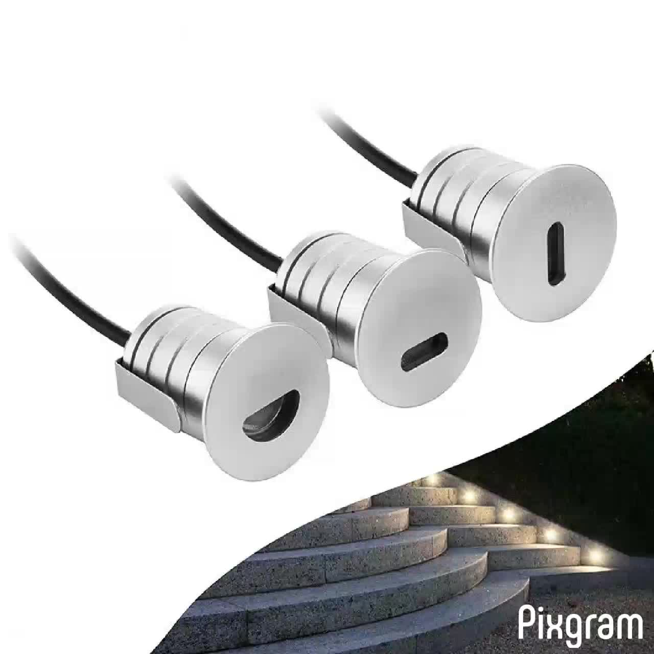 1w outdoor 12v recessed wall light