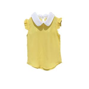 女童雪纺短袖夏季2021新款韩版衬衫