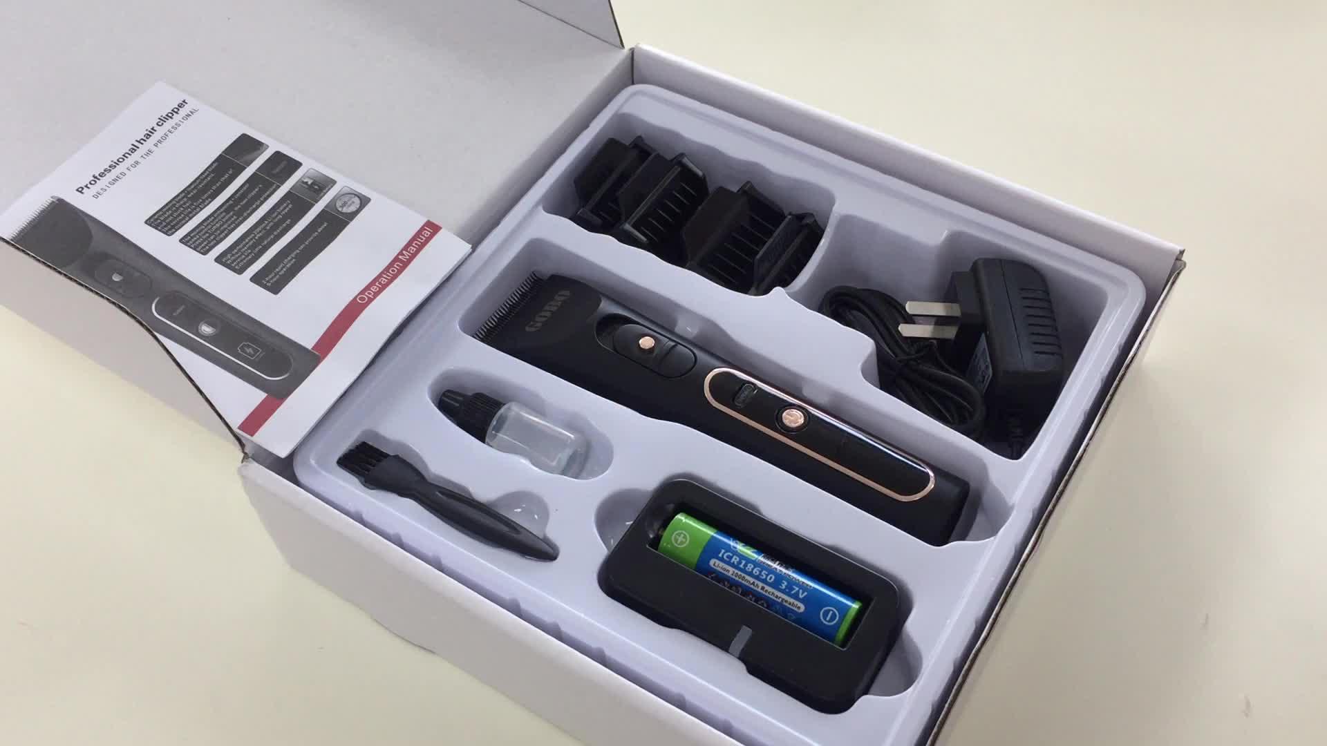 GB-A6S LCD Display professionelle elektrische clipper und trimmer barber liefern