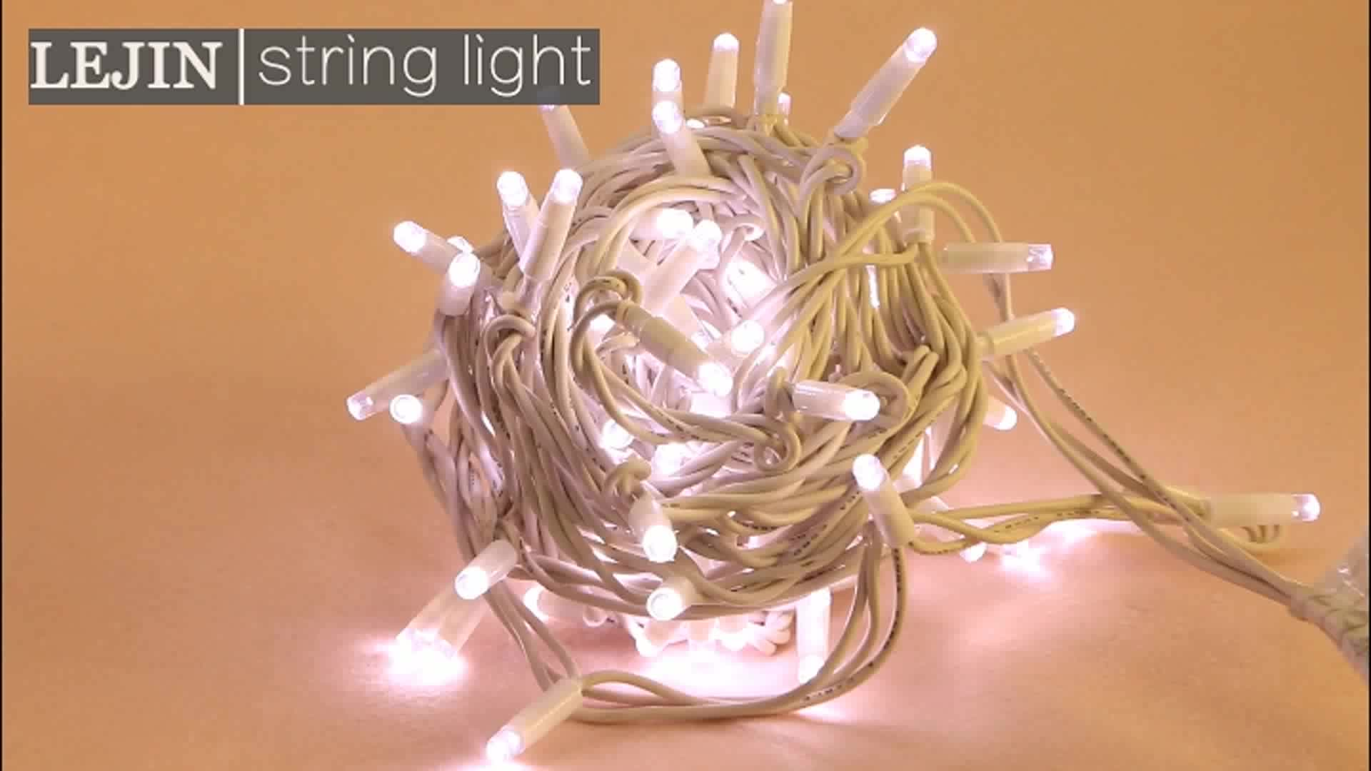 Dalam Stok Lampu Neon Kawat Karet IP65 10 Meter 100 Lampu LED Tali Ringan