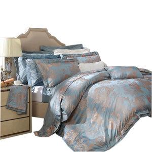 富安娜正品提花床上四件套欧式床单