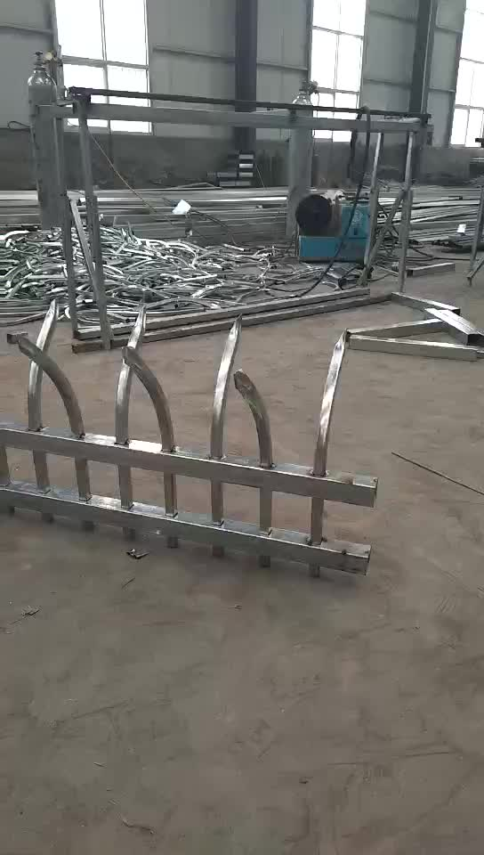 Ornamental Powder Coated Wrought Iron Fence Steel Fence
