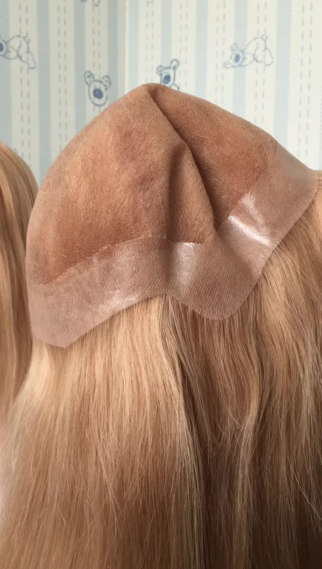 Produttore Prezzo Ali Commercio Garanzia Della Paypal Accettato 100 umani di REMY piena del merletto dei capelli parrucca silicone