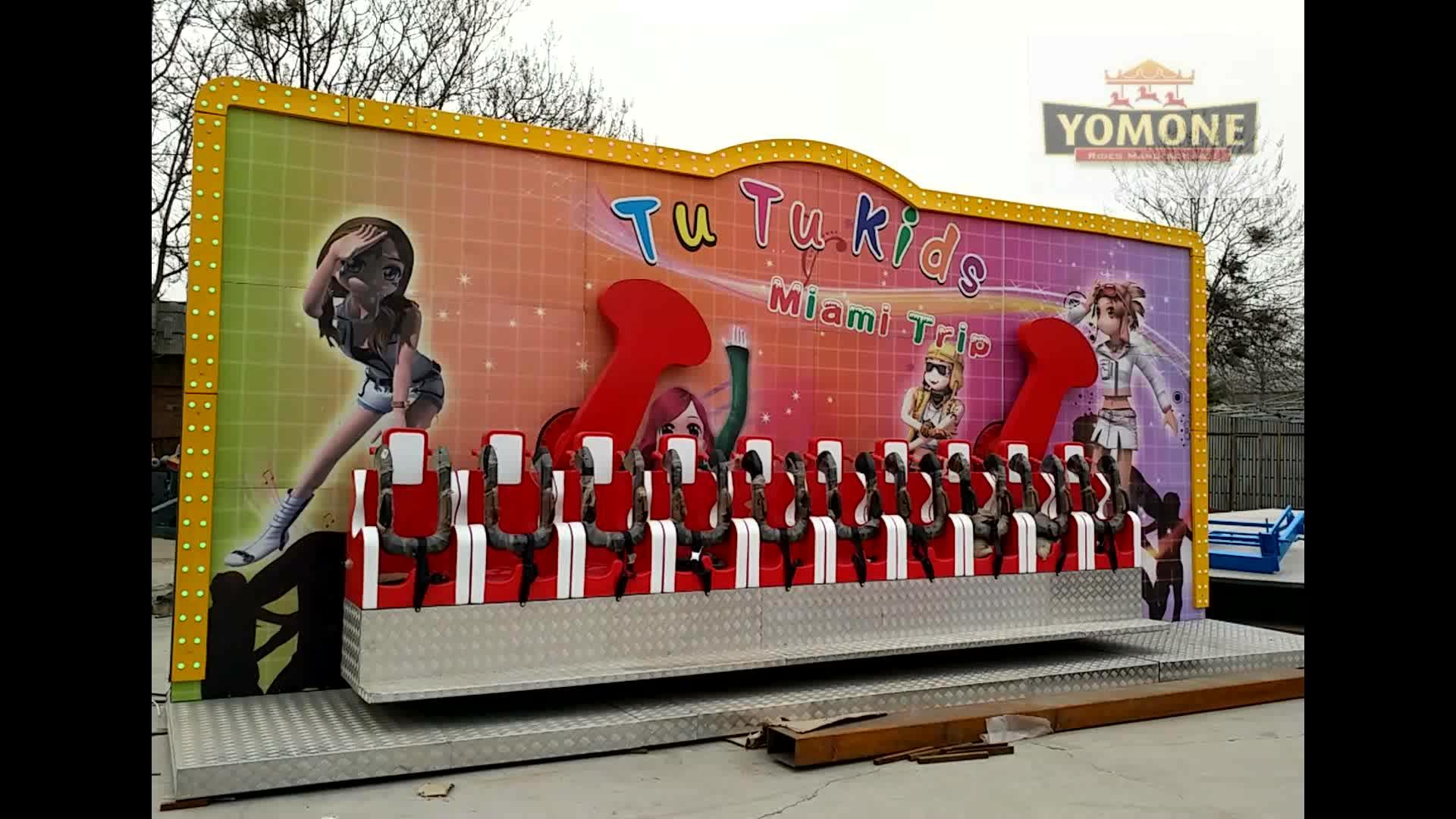 Yomone usine enfants manèges manèges mini miami vagues Folles nouveau parc d'attractions manèges à vendre