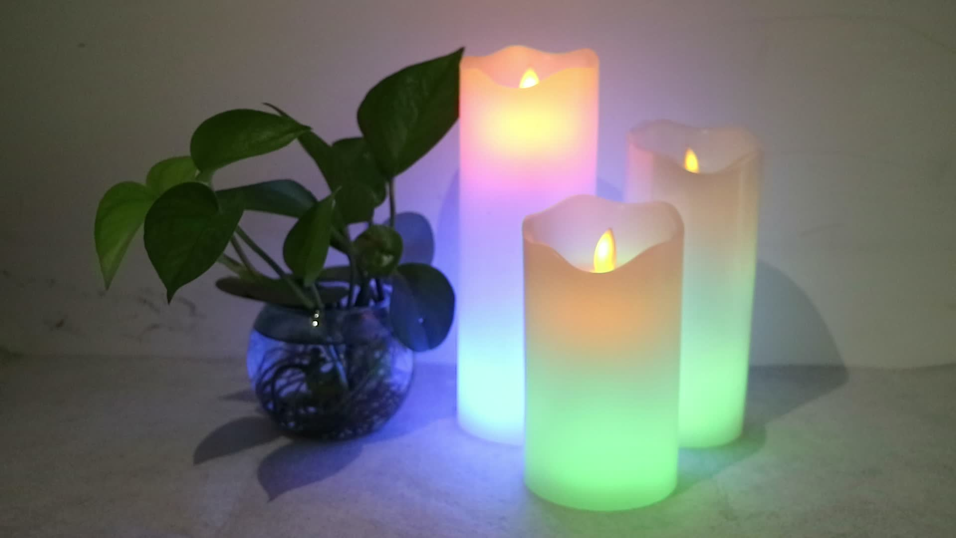snow flake candles real flame bubble snow ball color changing Christmas candles