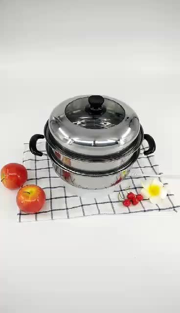 Wholesale 304 Stainless Steel Milk Heating Cooking Pot With Glass Lid