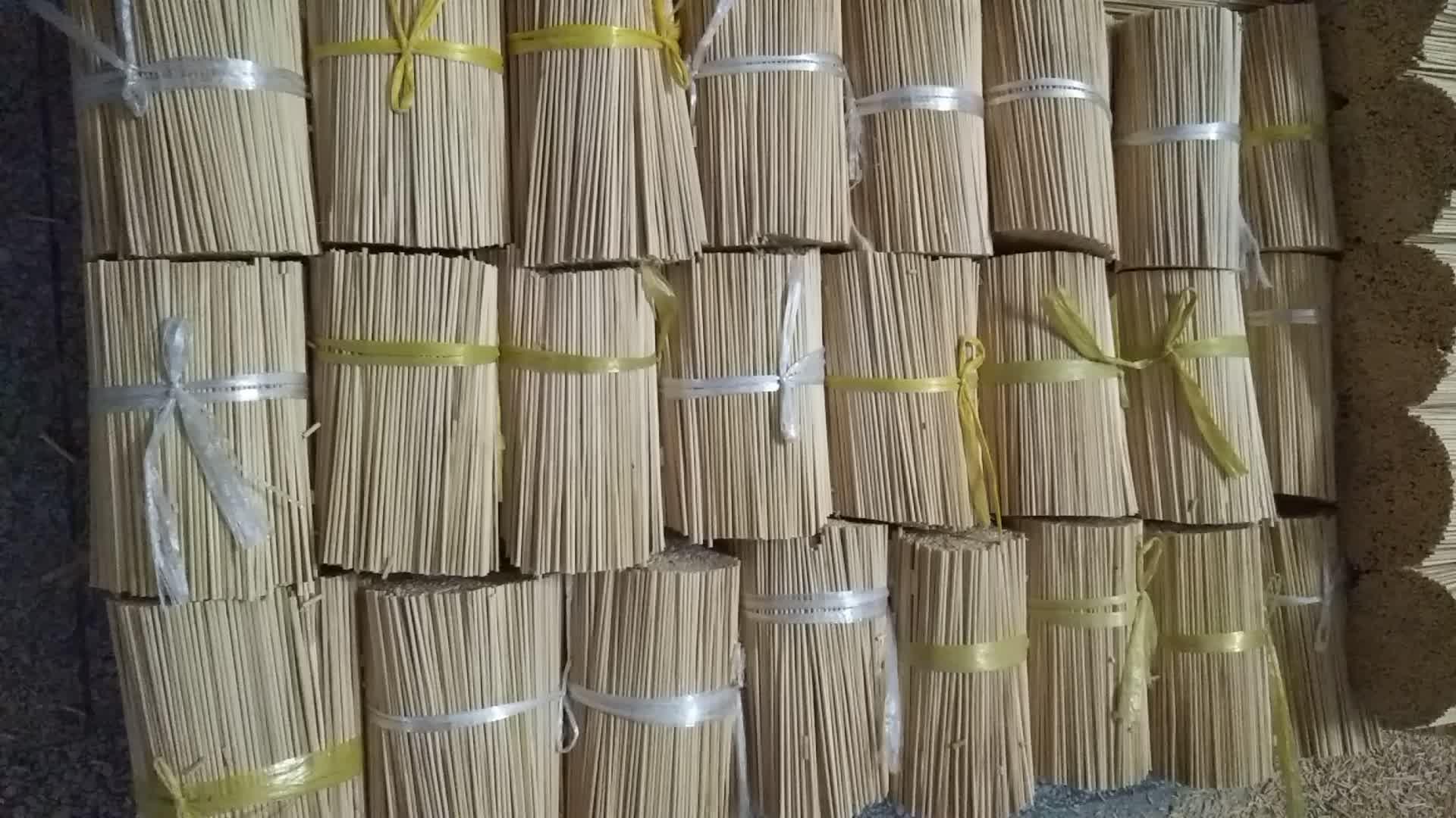 도매 라운드 등급 100% 천연 모소 대나무 마시멜로 구이 스틱