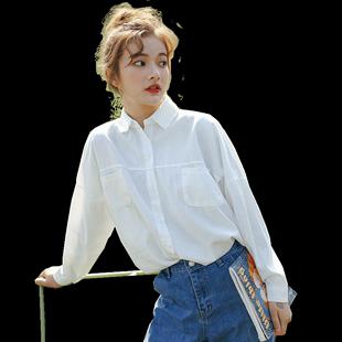 2019夏新款纯棉韩版学生外穿女衬衫