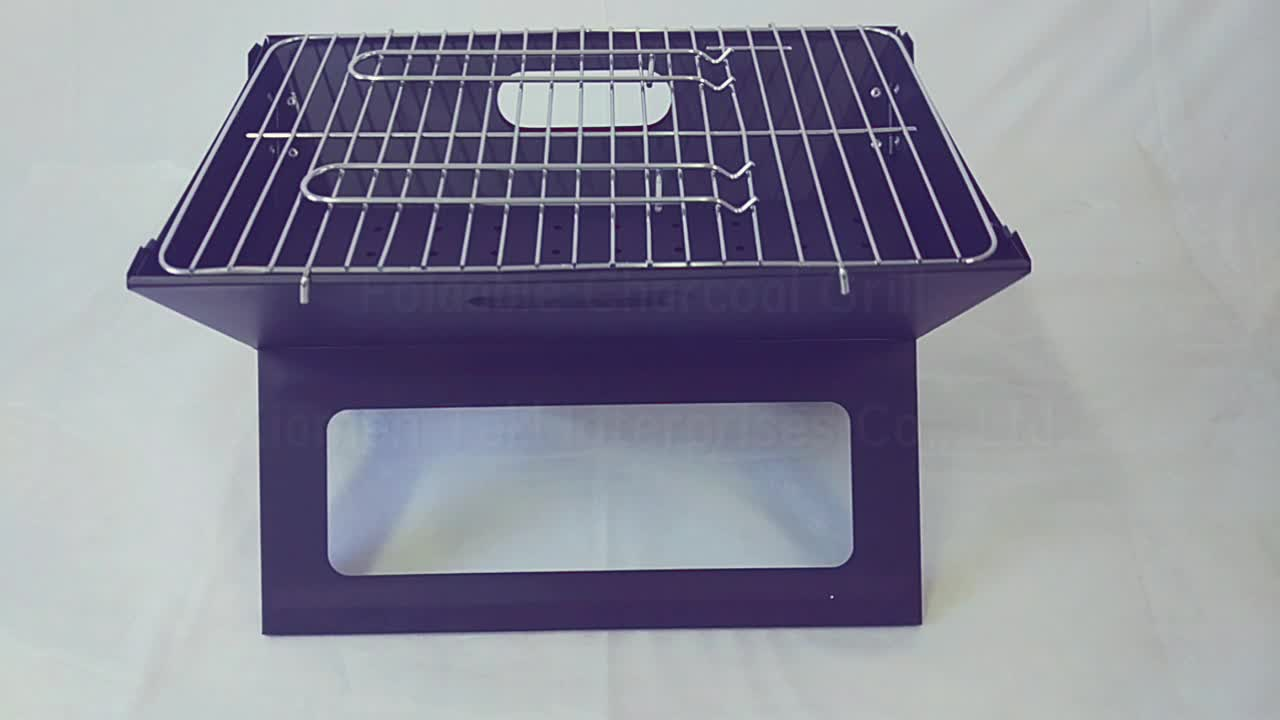 Small Size of X Style Japanese Notebook Foldable/Folding BBQ Barbecue Kebab Charcoal Camping Grills