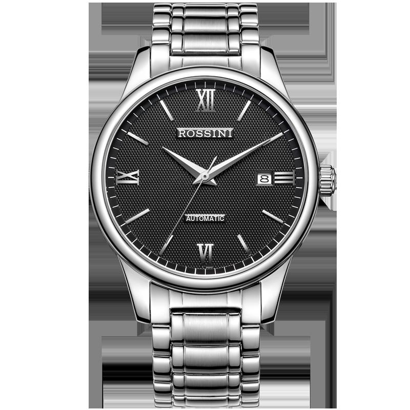 罗西尼启迪系列手表男机械表精钢防水正品休闲腕表男士手表517507