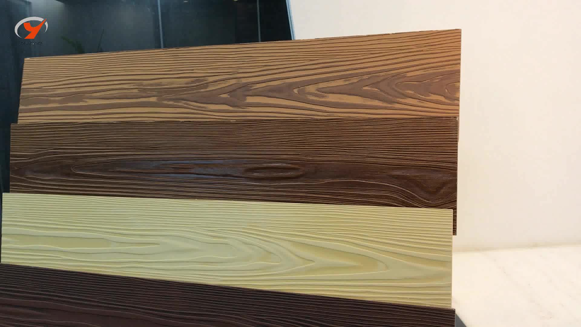Wood grain fiber cement siding panel exterior wall for Wood grain siding panels