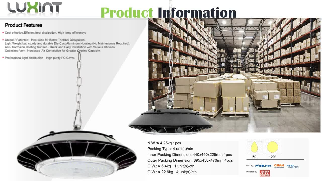 DLC UFO Ip65 commercial led high bay lighting