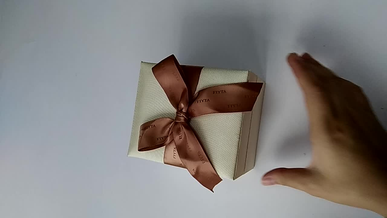 Recycled Paper Fancy Logo Jewellery Gift Box Manufacturers In China