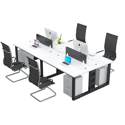 职员办公桌办公室桌子员工电脑桌椅组合简约现代2/6四4六人工作位