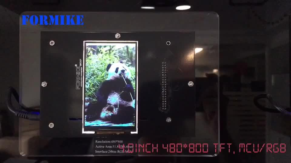 アスペクト比 3:5 Lcd スクリーン 480 × 800 ピクセル tft カラー画面 4 インチ液晶ディスプレイモジュールパネル mcu インタフェース