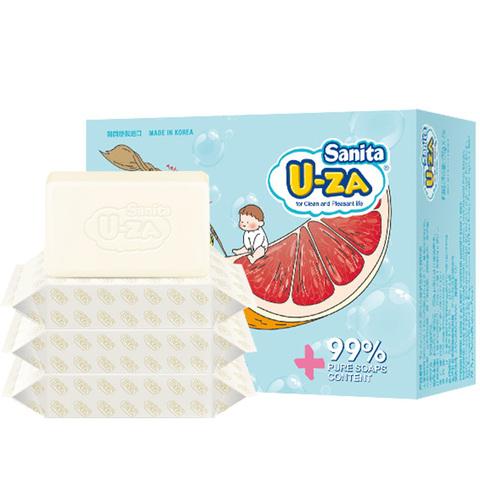 韩国进口u-za婴幼儿宝宝专用新生儿洗衣皂bb皂尿布皂176g*4