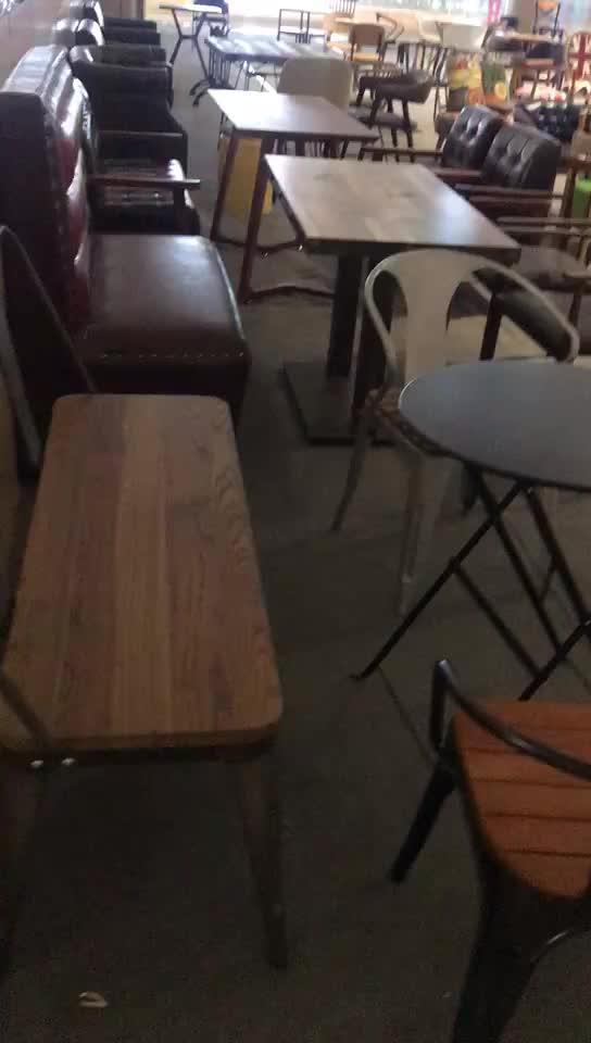 Heißer Verkaufs-kunden Modernen Natürliche tisch restaurant 10 sitzer Holz Esstisch mit metallfuß
