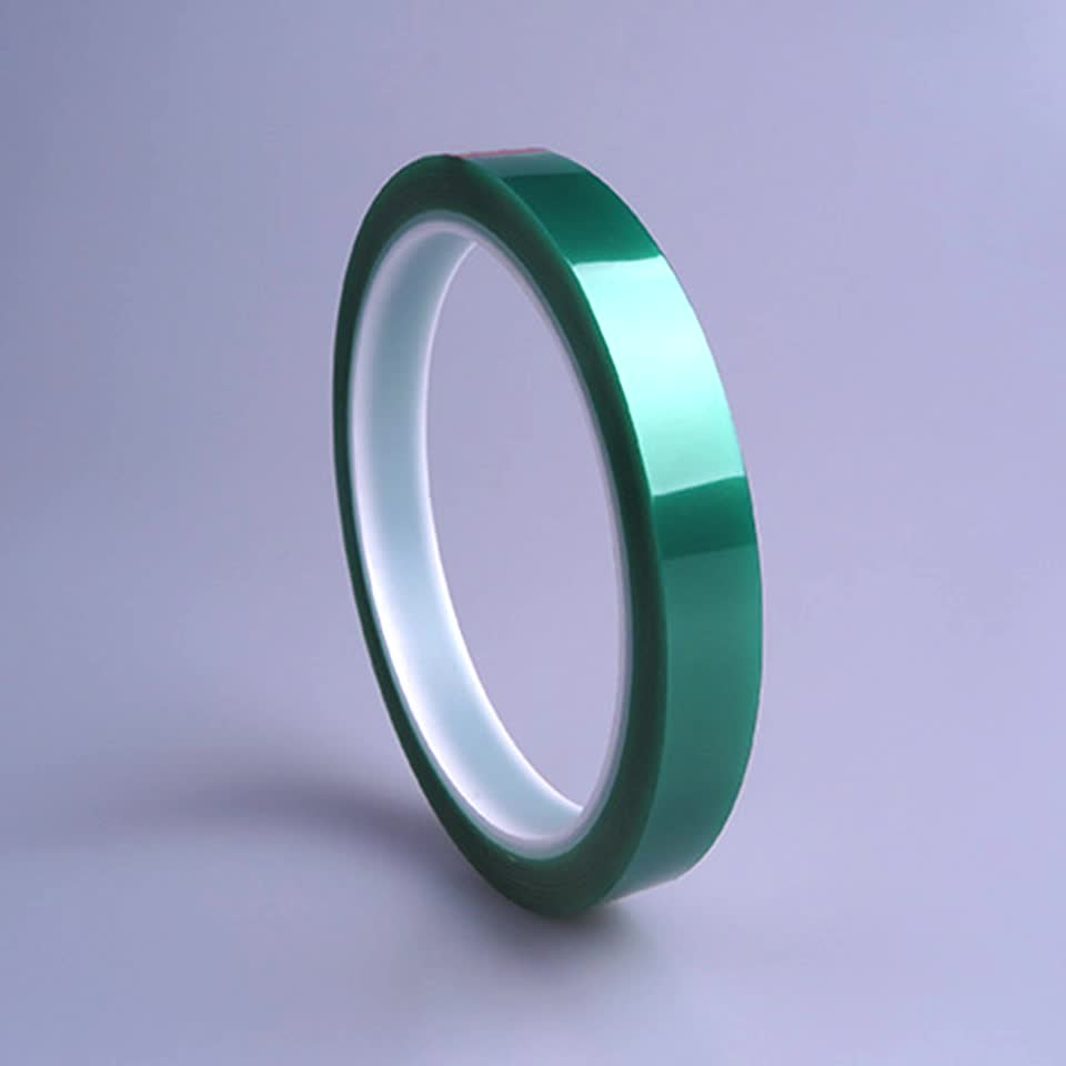 Green High Temperature PET Polyester Tape for Powder Coating